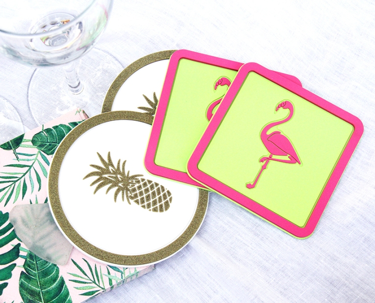 Vessel Coasters_Pineapples and Flamingos_Small