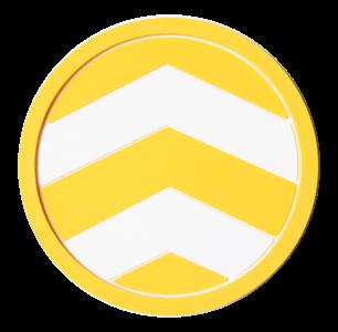 YellowChevron_Round