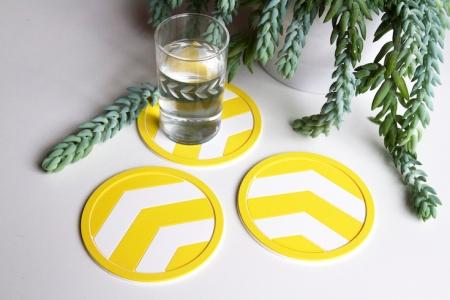 Vessel Coasters_Yellow Chevron Coaster_Pinterest